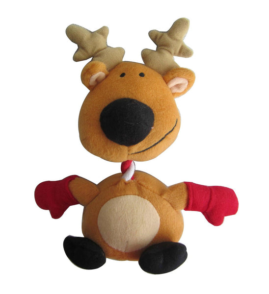 Iconic Pet Christmas Reindeer Rope/Squeaky Stuffed Plush Holiday Pet (Dog) Toy - Iconic Pet - Dropship Direct Wholesale