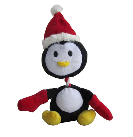 Iconic Pet Christmas Penguin Plush Rope/Squeaky Holiday Pet (Dog) Toy - Iconic Pet - Dropship Direct Wholesale