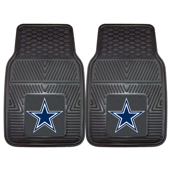 Dallas Cowboys Heavy Duty 2-Piece Vinyl Car Mats 17x27 - FANMATS - Dropship Direct Wholesale