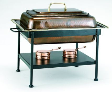 21 x 16 x 19 Rectangular Antique Copper Chafing Dish 8 Qt. - Old Dutch - Dropship Direct Wholesale