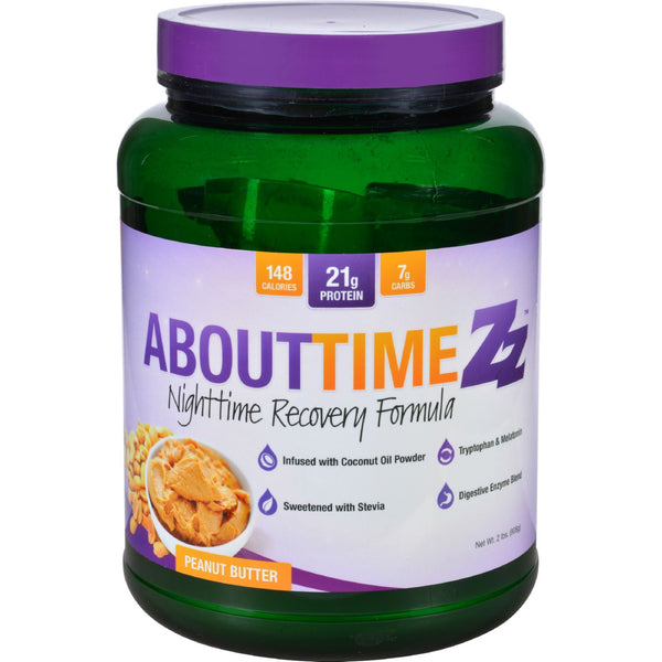 About Time Zz Nighttime Recovery - Peanut Butter - 2 lb - About Time - Dropship Direct Wholesale - 1