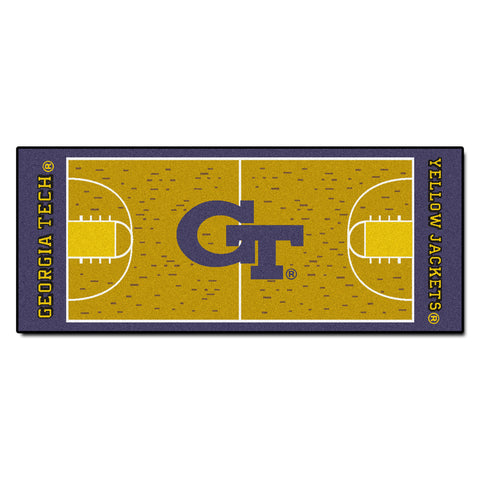 Georgia Tech Basketball Court Runner 30x72 - FANMATS - Dropship Direct Wholesale