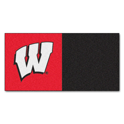 University of Wisconsin Carpet Tiles 18x18 tiles - FANMATS - Dropship Direct Wholesale