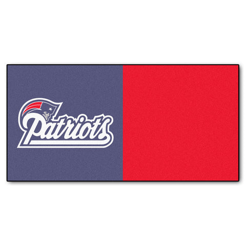 New England Patriots Carpet Tiles 18x18 tiles - FANMATS - Dropship Direct Wholesale