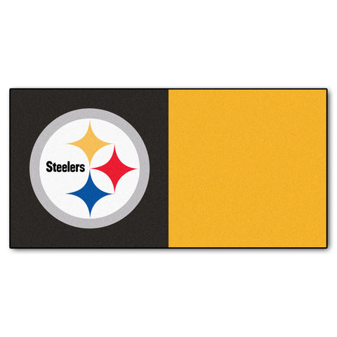 Pittsburgh Steelers Carpet Tiles 18x18 tiles - FANMATS - Dropship Direct Wholesale
