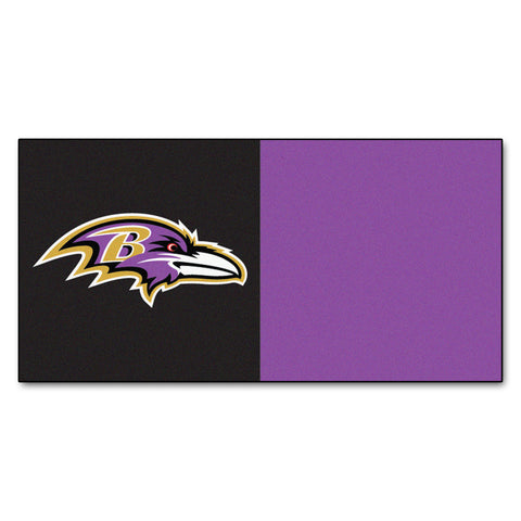 Baltimore Ravens Carpet Tiles 18x18 tiles - FANMATS - Dropship Direct Wholesale