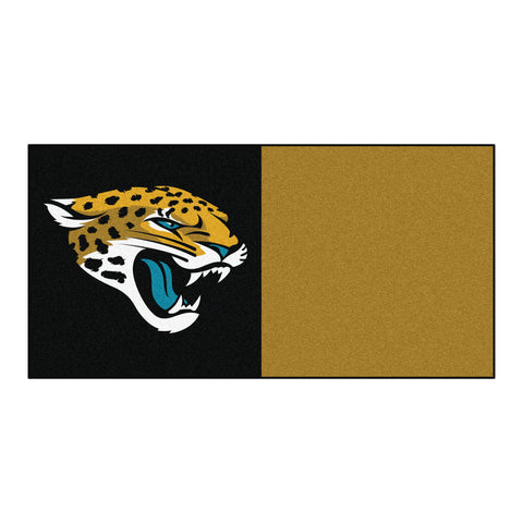 Jacksonville Jaguars Carpet Tiles 18x18 tiles - FANMATS - Dropship Direct Wholesale