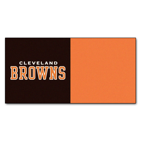 Cleveland Browns Carpet Tiles 18x18 tiles - FANMATS - Dropship Direct Wholesale