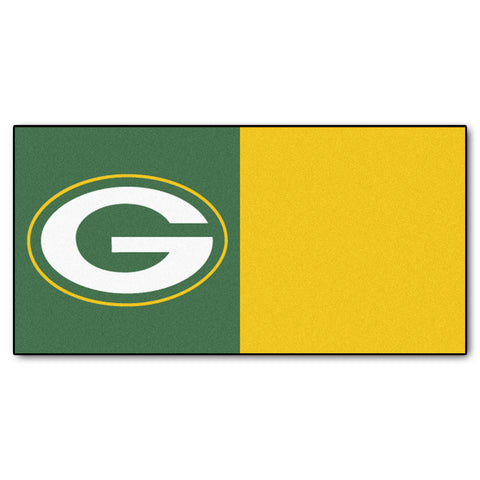 Green Bay Packers Carpet Tiles 18x18 tiles - FANMATS - Dropship Direct Wholesale