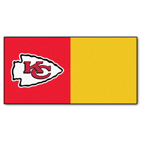 Kansas City Chiefs Carpet Tiles 18x18 tiles - FANMATS - Dropship Direct Wholesale