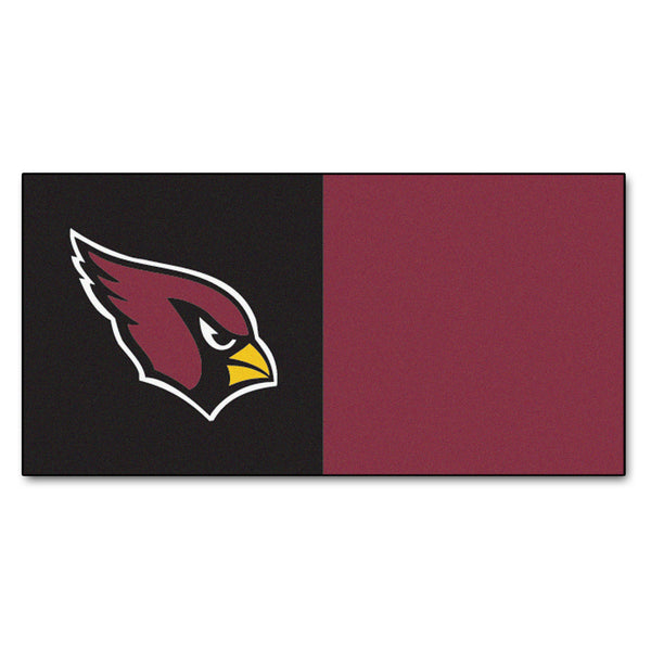 "NFL - Arizona Cardinals Carpet Tiles 18""x18"" tiles - FANMATS - Dropship Direct Wholesale"