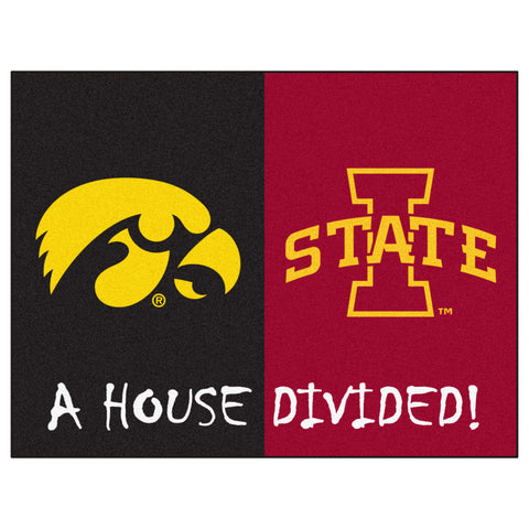Iowa - Iowa State NCAA House Divided Rugs 33.75x42.5 - FANMATS - Dropship Direct Wholesale