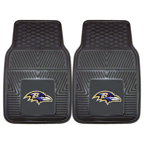 Baltimore Ravens Heavy Duty 2-Piece Vinyl Car Mats 17x27 - FANMATS - Dropship Direct Wholesale