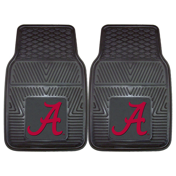 University of Alabama Heavy Duty 2-Piece Vinyl Car Mats 17x27 - FANMATS - Dropship Direct Wholesale