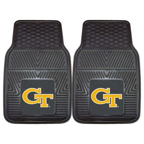 Georgia Tech Heavy Duty 2-Piece Vinyl Car Mats 17x27 - FANMATS - Dropship Direct Wholesale