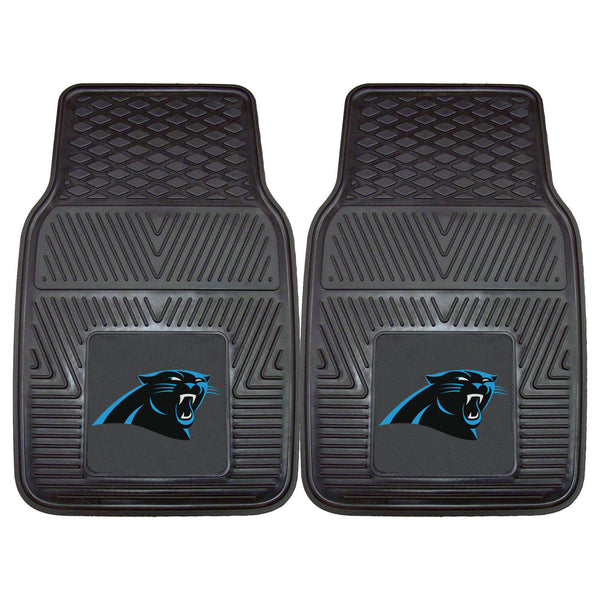Carolina Panthers Heavy Duty 2-Piece Vinyl Car Mats 17x27 - FANMATS - Dropship Direct Wholesale