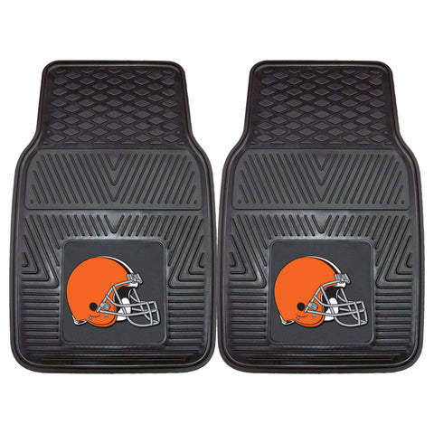 Cleveland Browns Heavy Duty 2-Piece Vinyl Car Mats 17x27 - FANMATS - Dropship Direct Wholesale
