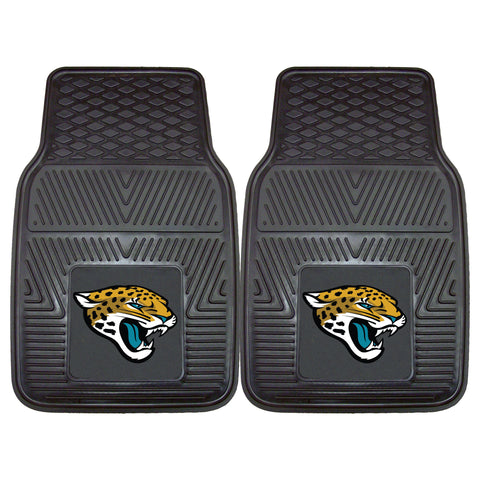 Jacksonville Jaguars Heavy Duty 2-Piece Vinyl Car Mats 17x27 - FANMATS - Dropship Direct Wholesale
