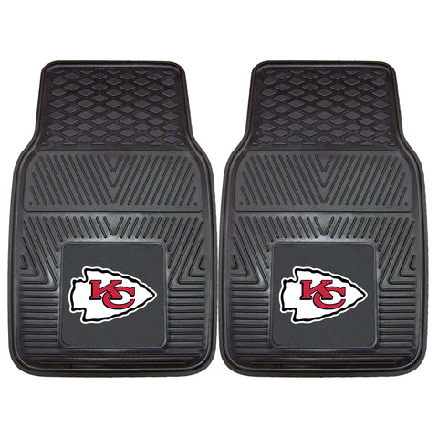 Kansas City Chiefs Heavy Duty 2-Piece Vinyl Car Mats 17x27 - FANMATS - Dropship Direct Wholesale