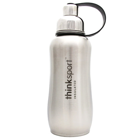 Thinksport Stainless Steel Sports Bottle - Silver - 25 oz - Thinksport - Dropship Direct Wholesale - 1