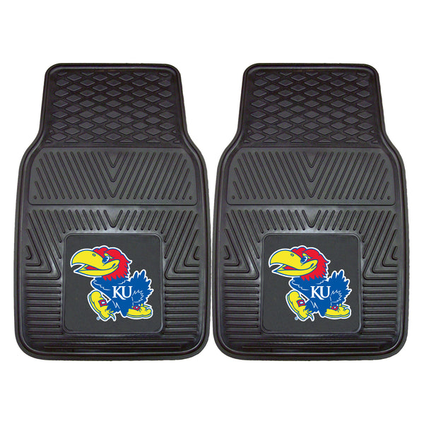 University of Kansas Heavy Duty 2-Piece Vinyl Car Mats 17x27 - FANMATS - Dropship Direct Wholesale