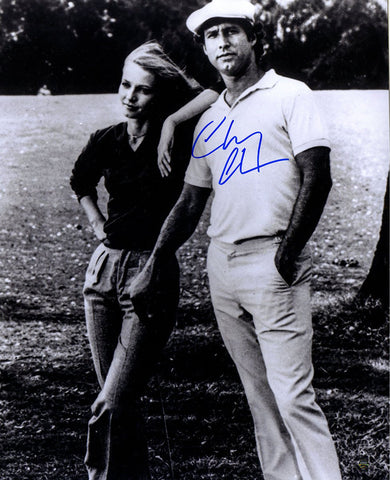 Chevy Chase Signed Standing with Cindy Morgan 16x20 Photo