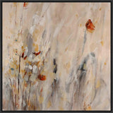ABSTRACT FLOWERS I 28L X 28H Floater Framed Art Giclee Wrapped Canvas - J S Bass Gallery - Dropship Direct Wholesale - 1