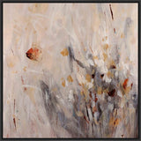 ABSTRACT FLOWERS II 28L X 28H Floater Framed Art Giclee Wrapped Canvas - J S Bass Gallery - Dropship Direct Wholesale - 1