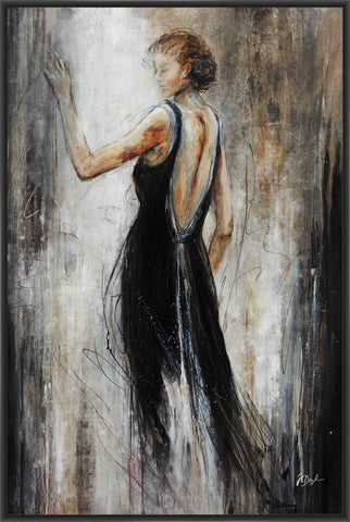 ADIEU 22L X 28H Floater Framed Art Giclee Wrapped Canvas - J S Bass Gallery - Dropship Direct Wholesale - 1