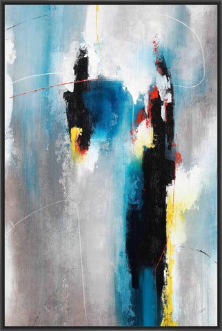 AFFAIR I 22L X 28H Floater Framed Art Giclee Wrapped Canvas - J S Bass Gallery - Dropship Direct Wholesale - 1