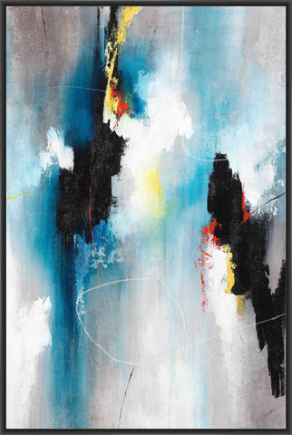 AFFAIR II 22L X 28H Floater Framed Art Giclee Wrapped Canvas - J S Bass Gallery - Dropship Direct Wholesale - 1