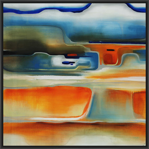 ABOVE THE CURVE 28L X 28H Floater Framed Art Giclee Wrapped Canvas - J S Bass Gallery - Dropship Direct Wholesale - 1