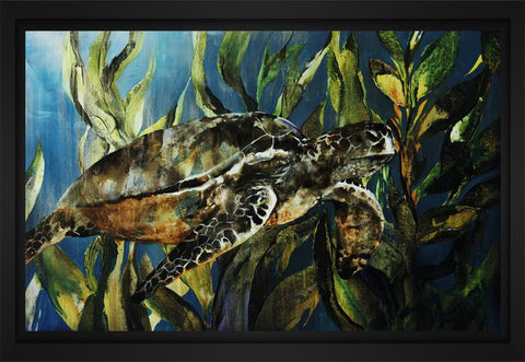 Under the Sea 28L X 22H Floater Framed Art Giclee Wrapped Canvas - J S Bass Gallery - Dropship Direct Wholesale - 1