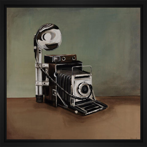 Vintage Classics II - camera 28L X 28H Floater Framed Art Giclee Wrapped Canvas - J S Bass Gallery - Dropship Direct Wholesale - 1