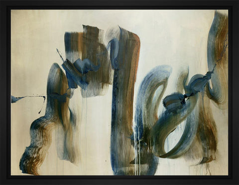 Wandering Along 28L X 22H Floater Framed Art Giclee Wrapped Canvas - J S Bass Gallery - Dropship Direct Wholesale - 1