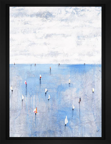 Windward Way IV 22L X 28H Floater Framed Art Giclee Wrapped Canvas - J S Bass Gallery - Dropship Direct Wholesale - 1