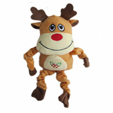 Iconic Pet Christmas Reindeer Stuffed Plush Squeaky Holiday Pet (Dog) Toy - Iconic Pet - Dropship Direct Wholesale