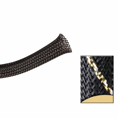 Keep It Clean : 1 1/2in Black and Gold Thin Strip Ultra Wrap Wire Loom-10 Feet - Unknown - Wholesale Dropship Fulfillment