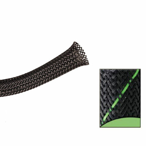 Keep It Clean : 1 1/2in Black and Green Thin Strip Ultra Wrap Wire Loom-50 Feet - Unknown - Wholesale Dropship Fulfillment