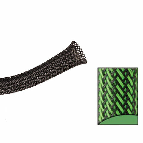 Keep It Clean : 1 1/2in Green and Black Ultra Wrap Wire Loom-10 Feet - Unknown - Wholesale Dropship Fulfillment