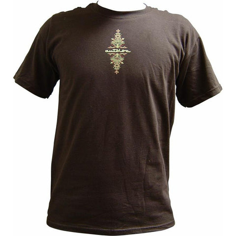 AutoLoc Large Brown Short Sleeve Pinstripe T Shirt STYLE 1 - AutoLoc - Dropship Direct Wholesale