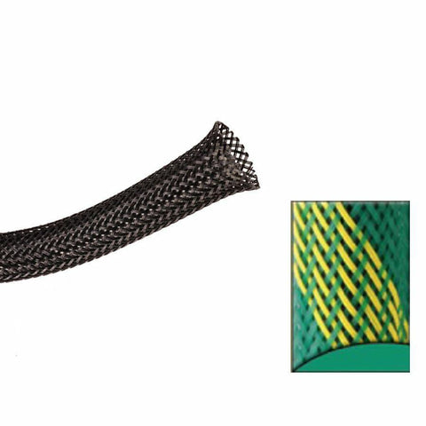 Keep It Clean : 1 1/2in Green and Yellow Strips Ultra Wrap Wire Loom-50 Feet - Unknown - Wholesale Dropship Fulfillment