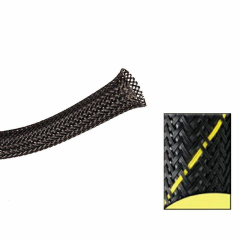 Keep It Clean : 1 1/2in Black and Yellow Thin Strip Ultra Wrap Wire Loom-50 Feet - Unknown - Wholesale Dropship Fulfillment