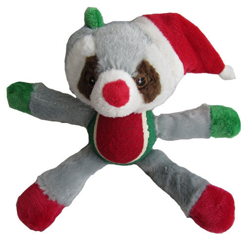 Iconic Pet Christmas Raccoon with Tennis Ball Plush Squeaky Holiday Stuffed Pet (Dog) Toy - Iconic Pet - Dropship Direct Wholesale