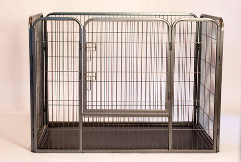 Iconic Pet - Heavy Duty Rectangle Tube pen Dog Cat Pet Training Kennel Crate - 28in Height - Iconic Pet - Dropship Direct Wholesale