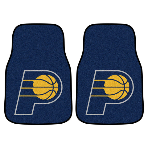 NBA - Indiana Pacers 2-piece Carpeted Car Mats 17x27