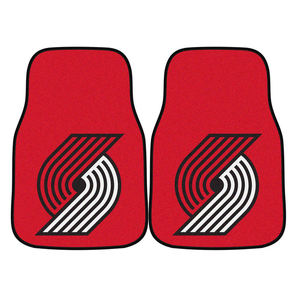 NBA - Portland Trail Blazers 2-piece Carpeted Car Mats 17x27
