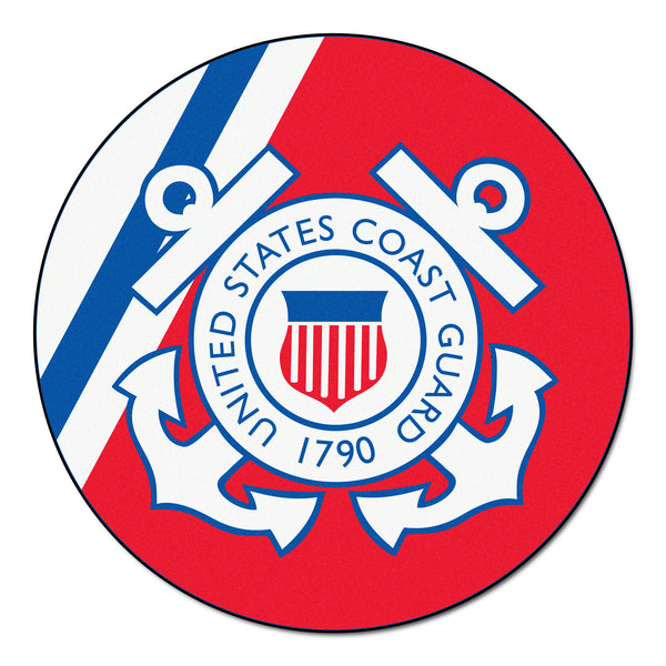 Coast Guard Licensed Round Rug 44 diameter - FANMATS - Dropship Direct Wholesale