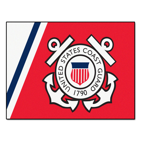 Coast Guard Licensed All-Star Mat 33.75x42.5 - FANMATS - Dropship Direct Wholesale