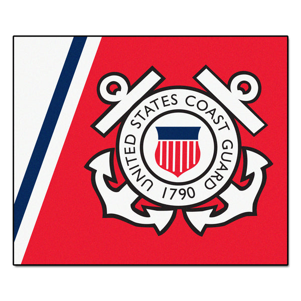 Coast Guard Licensed Tailgater Rug 5x6 - FANMATS - Dropship Direct Wholesale